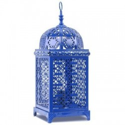 Lampara Farol Azul 37 cm