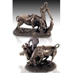 Set De 2 Figuras Toreros Resina 25 Cm