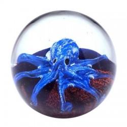 Pisapapeles Pulpo Azul 10 cm