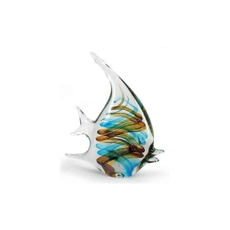 Figura Cristal Gallo Pez 21 cm
