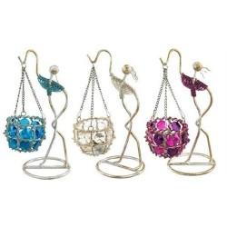 Candelabro Colgante Perlas Colores Surtidos (1 unidad) 26 cm