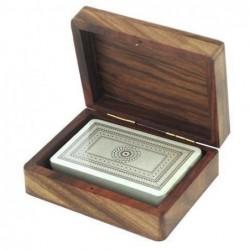 Caja Madera con Baraja Cartas