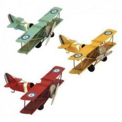 Figura Metal Avion Retro (1 unidad) 16 cm