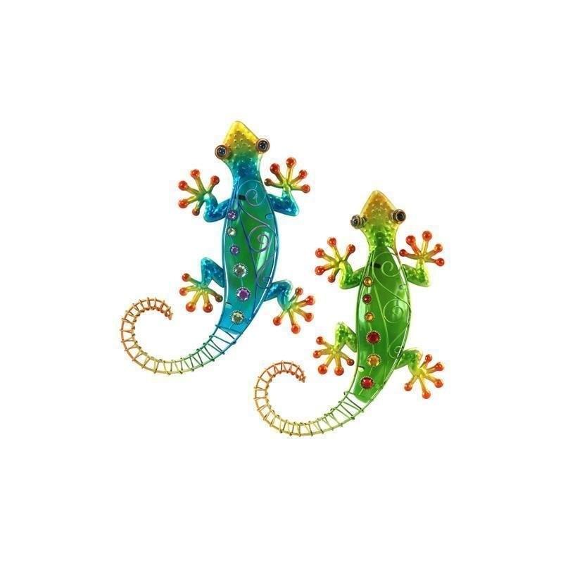 Figura Colgar x2 Lagartos Colores 39 cm