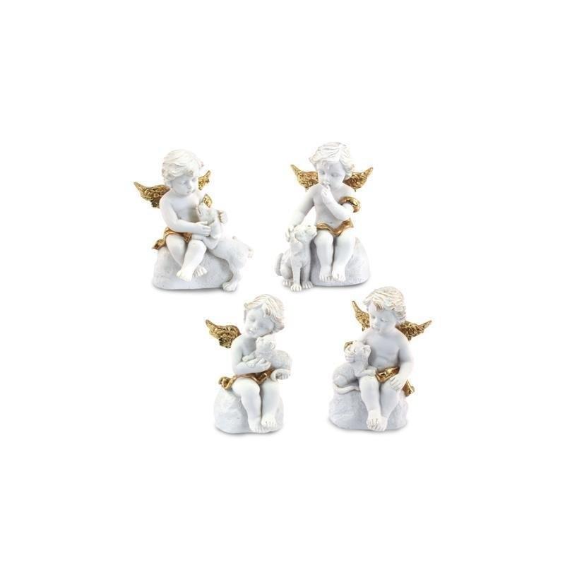 Figura Resina Angel Dorado ( 1 unidad) 8 cm