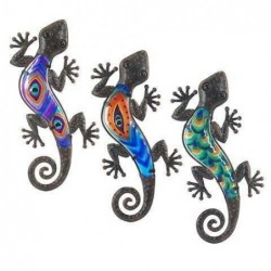 Figura Colgar x3 Lagartos Colores 31 cm