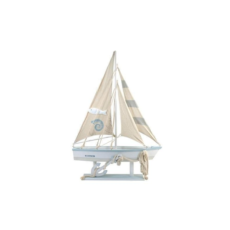 Figura Barco Madera 97 cm