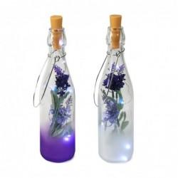 Botella Cristal x2 Modelos  con Led 28 cm