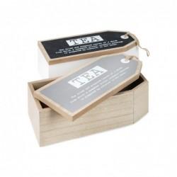 Caja TE Madera Surtida (1 unidad) 18 cm