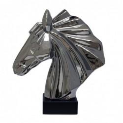 Figura Ceramica Busto Caballo 36 cm