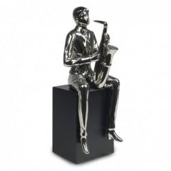 Figura Ceramica Saxofonista 33 cm