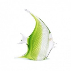 Figura Cristal Pez Verde 20 cm