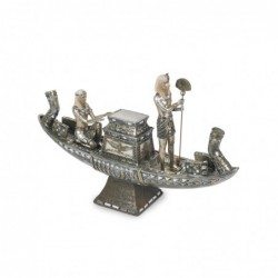 Figura Decorativa Barco Egipcio 40 cm