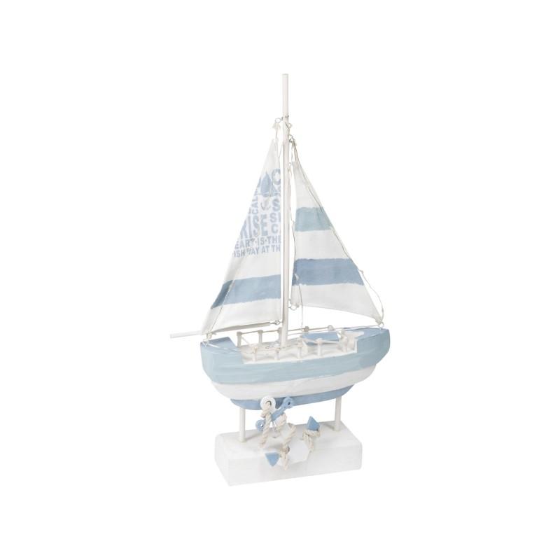 Figura Decorativa Barco Luces 41 cm