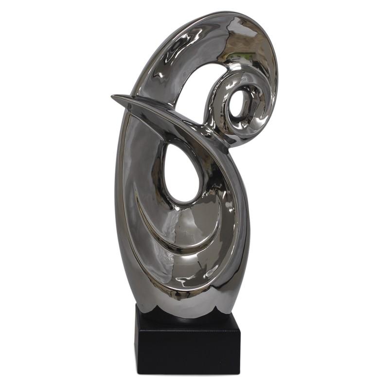 Figura Decorativa Escultura Ceramica 41 Cm - Escultura-decorativa