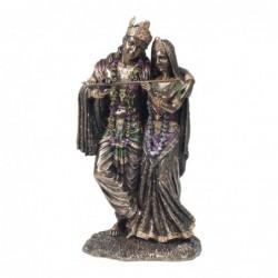 Figura Resina  Clasica Radha y Krishna 29 cm