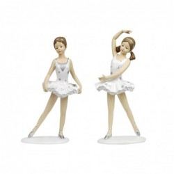 Figura x2 Bailarina Resina 28 cm
