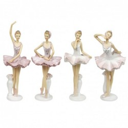 Figura x4 Bailarina Resina 22 cm