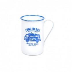 Mug Blanco Long Beach Retro 11 cm