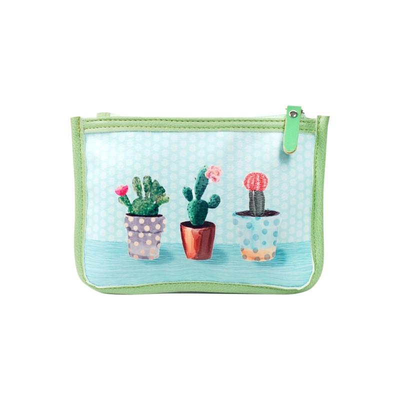 Neceser Cosmeticos Cactus 18 cm