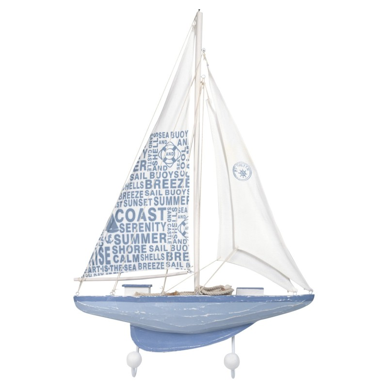 Percha Pared 2 Pomos Barco 62 cm