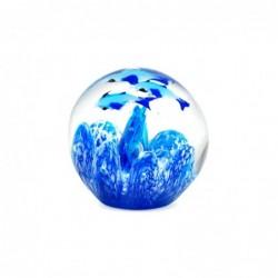 Pisapapeles Cristal Peces Azul 7 cm