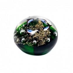 Pisapapeles Cristal Peces Verde 9 cm