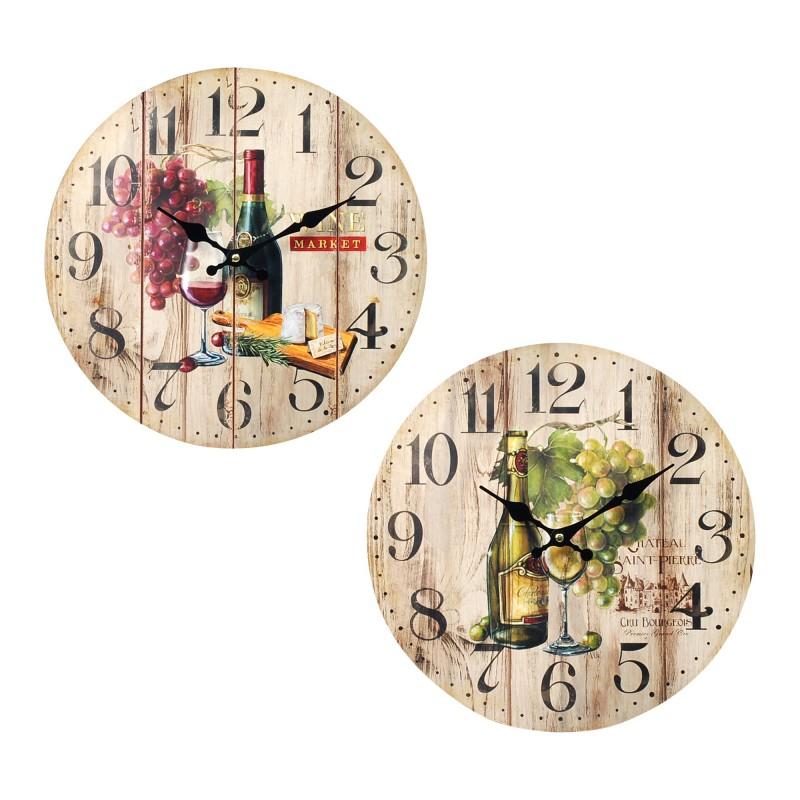 Reloj De Cocina | Reloj Pared Cocina Surtido 1 Unidad 34 Cm