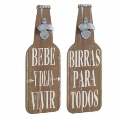 Abridor x2 botellas frases 40 cm