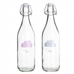 Botella Cristal x2 Nubes 1Lit