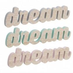 Letrero x3 Dream Madera 38 cm