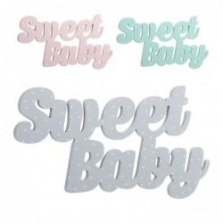 Letrero x3 Sweet Baby Madera 40 cm
