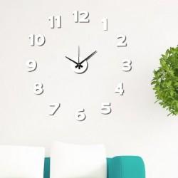 Reloj de Pared Numeros Adhesivos Blanco 50 cm