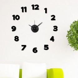 Reloj de Pared Numeros Adhesivos Negro 50 cm