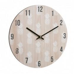 Reloj Pared Piña Madera 34 cm