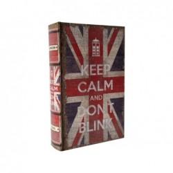LIBRO-CAJA FUERTE UK KEEP CALM 17 16x5x24cm