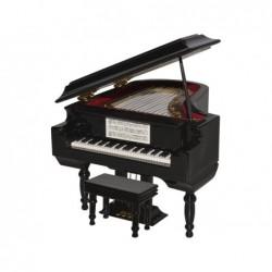 MINIATURA PIANO MADERA 14X11X9CM
