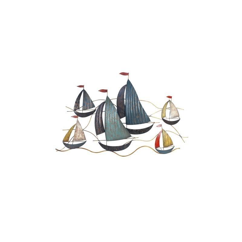 Adorno Pared Barcos 66x106 cm