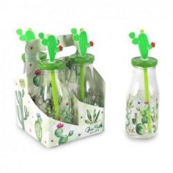 Botella Cactus Set 4 unidades 20 cm