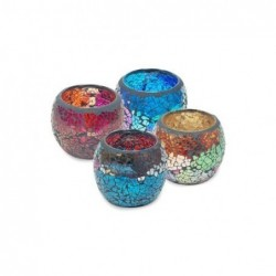 Portavelas T-Light x4 Colores 8 cm
