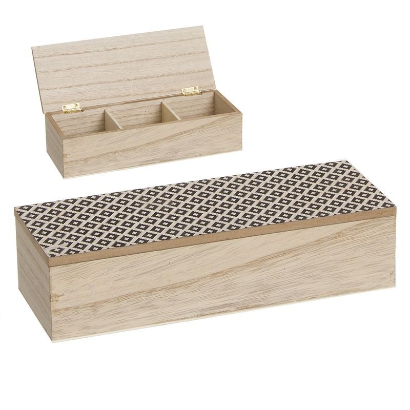 Caja Té 3 Compartimentos 24 cm