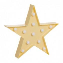 Adorno Estrella Con Leds Amarilla 27 cm