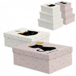 Caja Carton 2 Juegos 3 Cajas Rectangulares