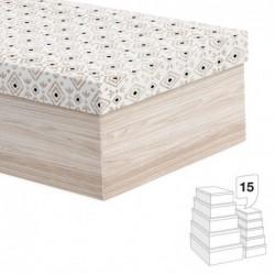 Caja Carton Juego 15 unidades Boho