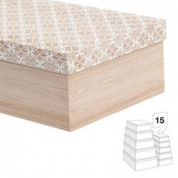 Caja Carton Juego 15 unidades Modernista