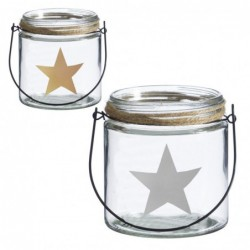 Candel x2 Estrella 11 cm