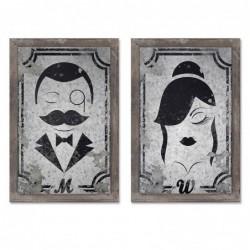 Cartel Baño hombre y Mujer 20x30 cm