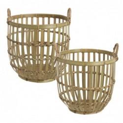 Cesta Juego 2 Unidades Bambu 35 cm