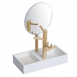 Espejo Joyero Con Soporte Pajaros 30 cm