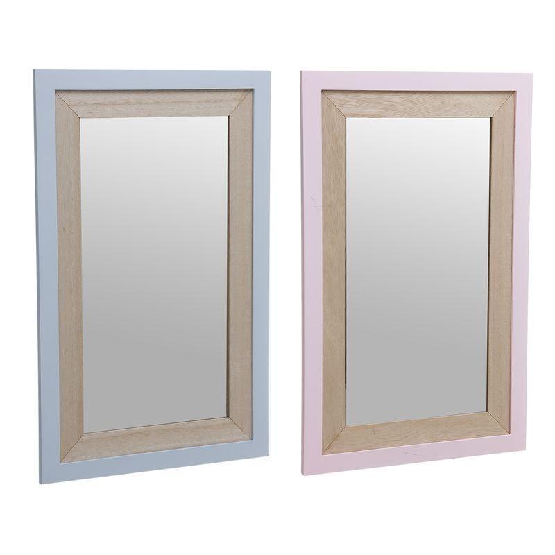 Espejo Madera Infantil x2 colores 31x54 cm